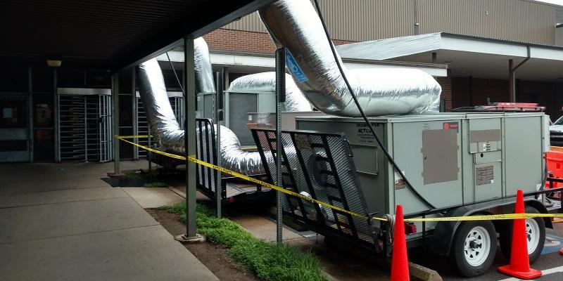 HVAC in  a trailer.